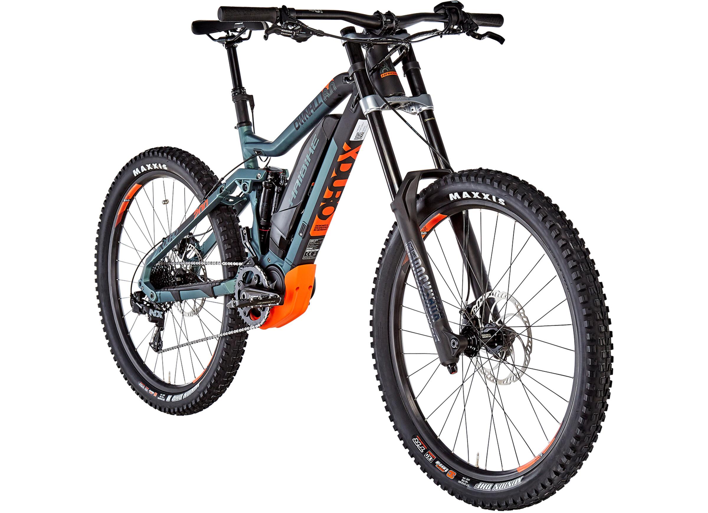 Haibike Xduro Dwnhll 80 Bicicletta Elettrica Full Suspension Uomo Neroverde Oliva